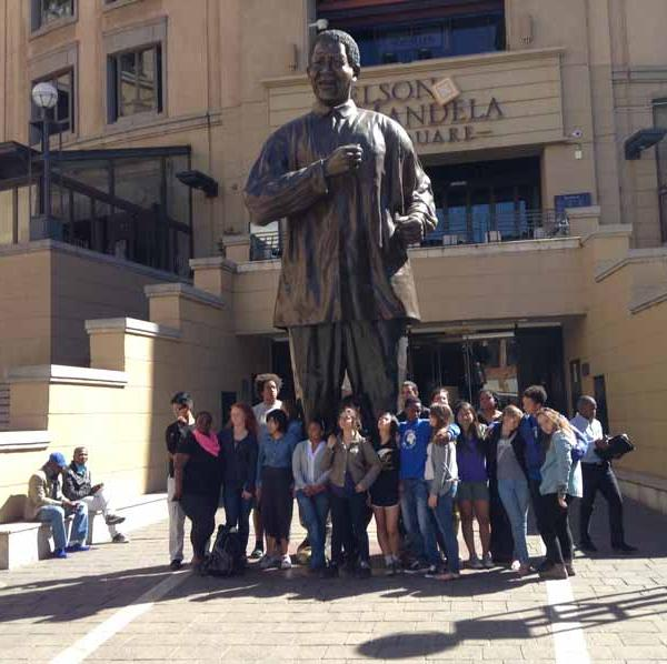 South Africa Experiment Group statue of Nelson Mandela