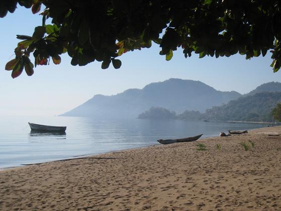 Sea side view in Malawi