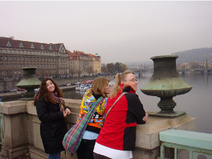 International students sight seeing in Prague