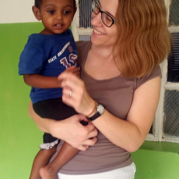 Working with children in Sri Lanka lookafter infants