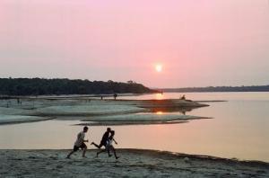 Beautiful sunset in Brazil