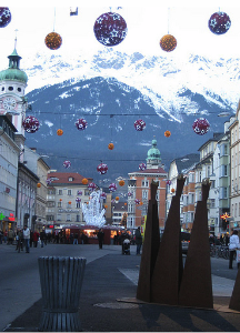 Celebration in the streets of Austria