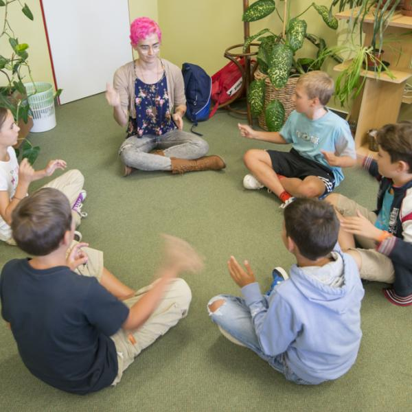 Teaching practice with children, TEFL course, Prague