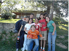 Students hanging out in the park