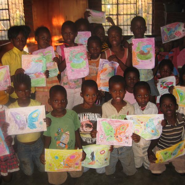 Some of the learners at the Learning Centre