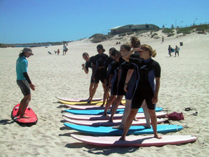 Surfing courses available on your program in Australia