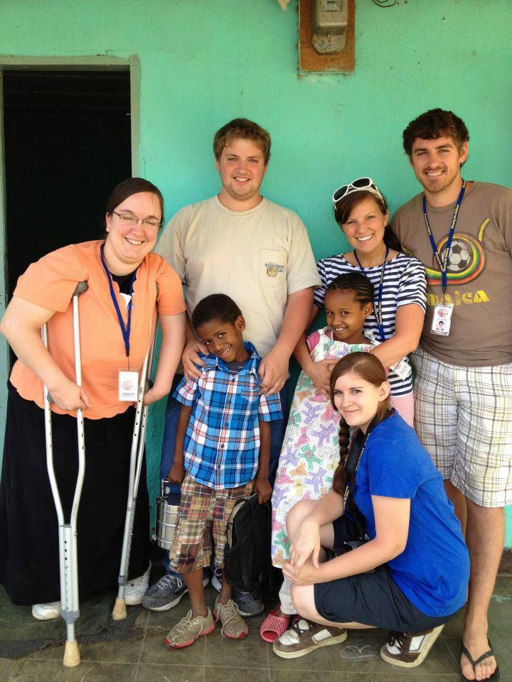 volunteer with sponsored child
