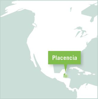 Map of Placencia, Belize where Projects Abroad is based