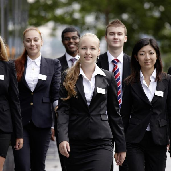 BHMS students in professional dress