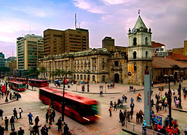 The beautiful and vibrant city of Bogota, Colombia