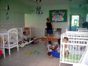 Argentina, Volunteer to care for children in a creche in Rio de Janeiro