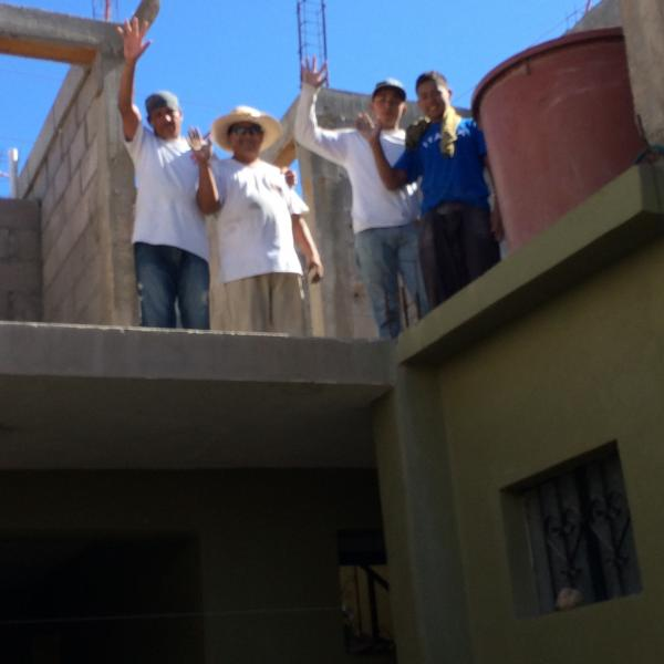 Volunteering in constuction of the orphanage and women