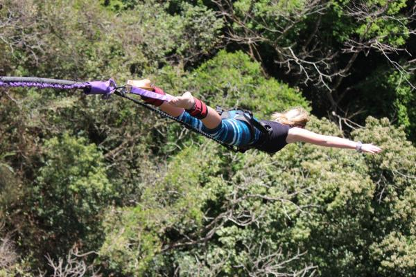 Bungee jumping in Costa Rica