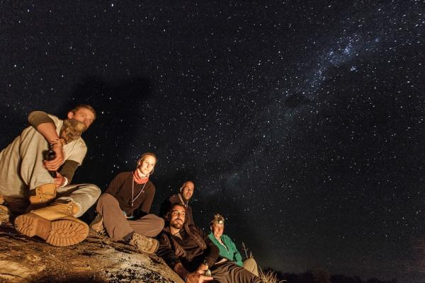 Sleeping out under the stars
