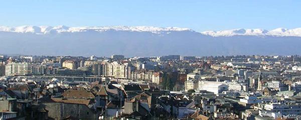 scenic city view of geneva