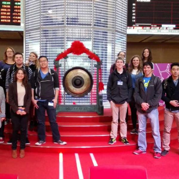 Students at Stock Exchange