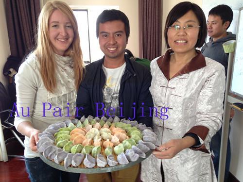 making Chinese dumplings