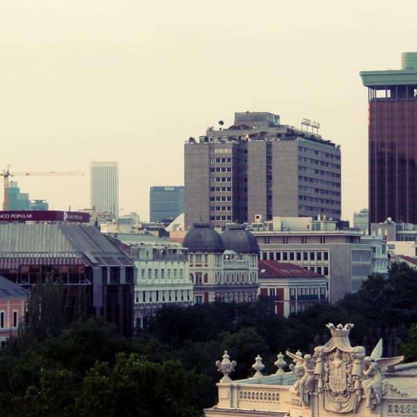 Madrid atop Cibeles - Intern in Madrid - Adelante Abroad