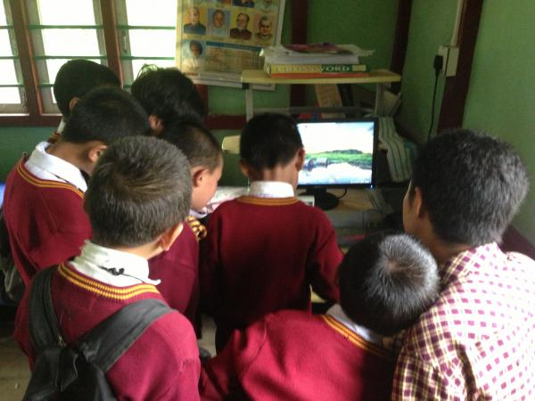 A computer class in Sikkim