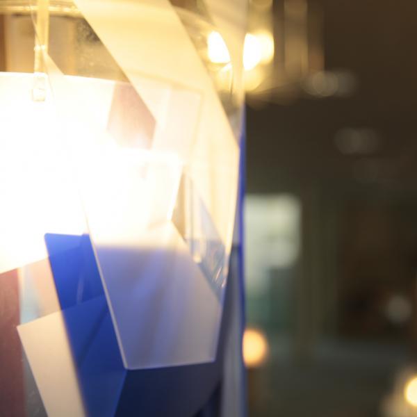 Detail of lighting at Nottingham Trent University