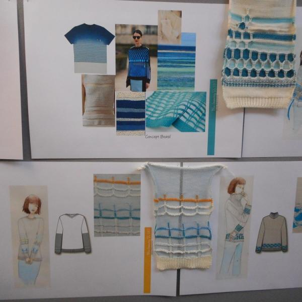 Samples of work from Fashion Knitwear Summer School 2015