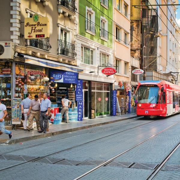 A Turkish street scene in Istanbul
