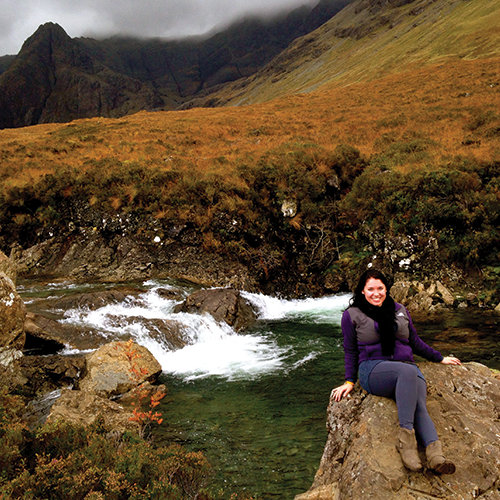 Fairy Pools in the Isle of Skye in the highlands of Scotland