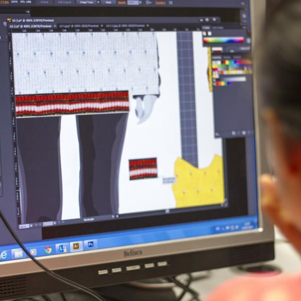 CAD work on Fashion Knitwear Summer School 2014