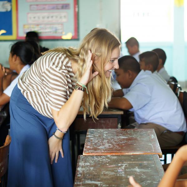 Female English teacher in Thailand