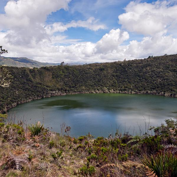The place of the Eldorado myth: Guatavita, Colombia
