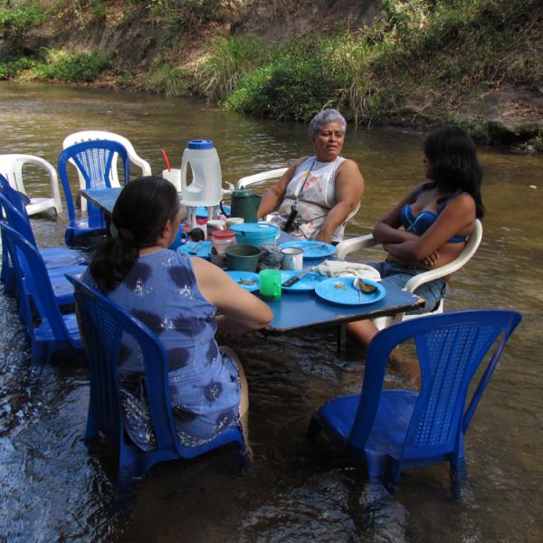Costa Rica, river, lunch
