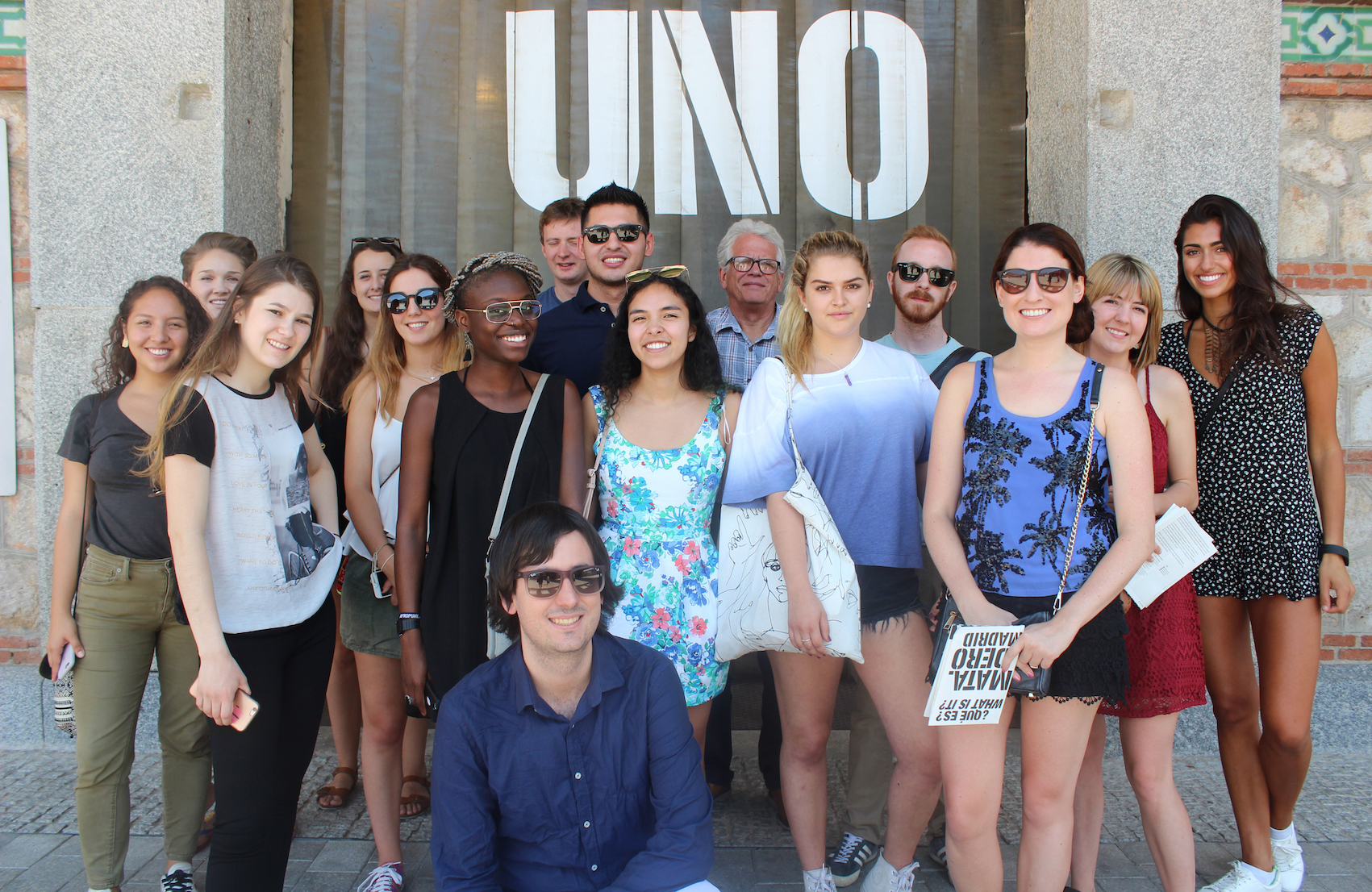 Interns posing for a photo