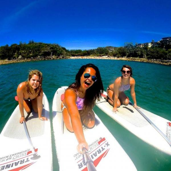 Work Experience Australia Participants Paddle Surfing
