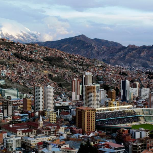 La Paz and Mount Illimani