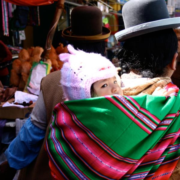 Local woman in La Paz