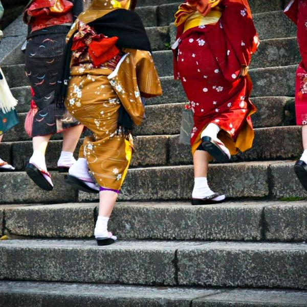 Ladies in Traditional Japanese Costumes