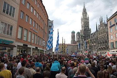 Marienplatz in center of Munich