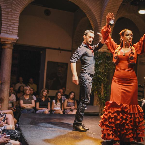 During a flamenco show in Sevilla, Spain