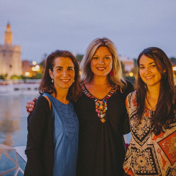 Welcome dinner with AP Spanish teachers in Sevilla, Spain