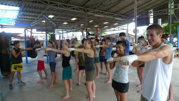 Muay Thai workshop in Chiang Mai, Thailand