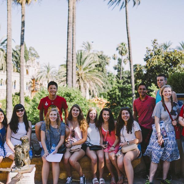 Pre-AP students visiting Alcazar Palace in Sevilla, Spain