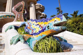 Park Guell lizard, Barcelona