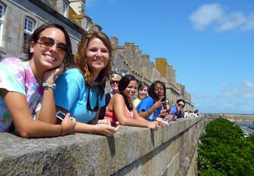 Study Abroad Group at St Malo