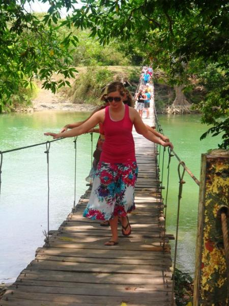 Hammock bridge in Belize