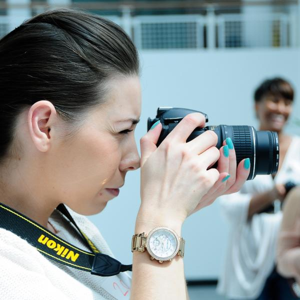 Summer student on photography course at Nottingham Trent University