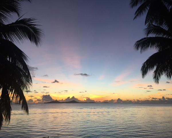 Sunset over the Main Chuuk Lagoon