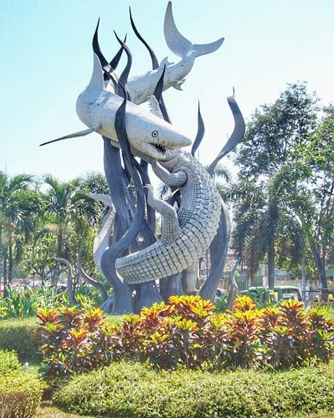 Surabaya City Icon: Shark and Crocodile