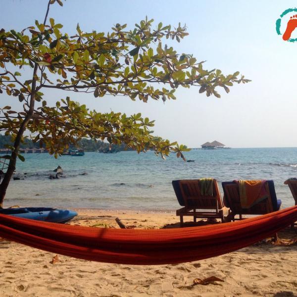 Beach scene Cambodia