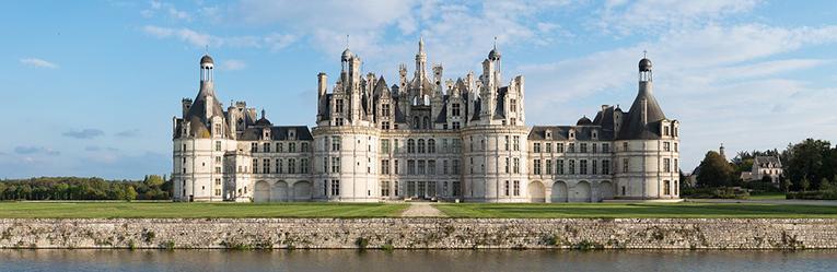 The royal Château de Chambord at Chambord, Loir-et-Cher, France