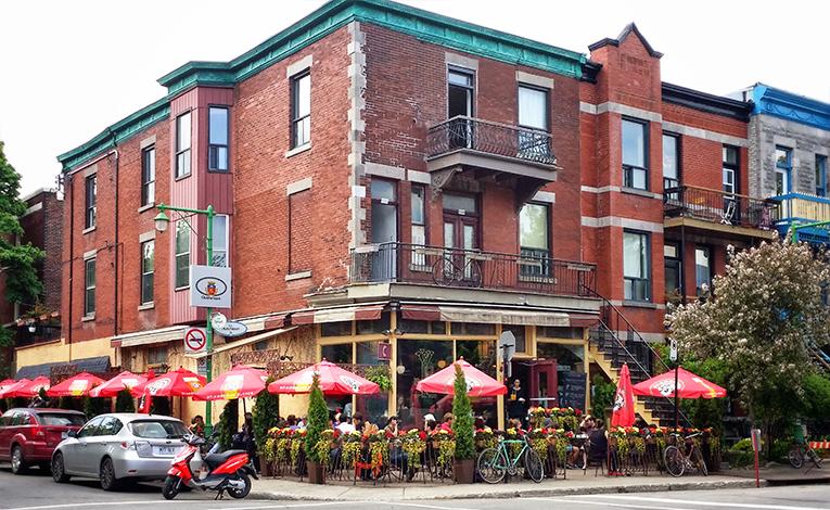 Cafe on a street corner